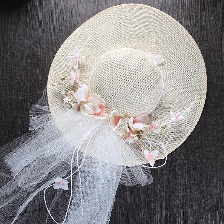 cd9e1ac4bf6 Svatební klobouk styl boho